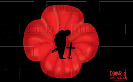 Artizans Image Information Poppy Contains Silhouette Of Mourning Soldier Color