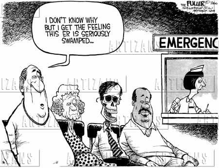 Emergency Room Waiting Cartoon emergency waiting room