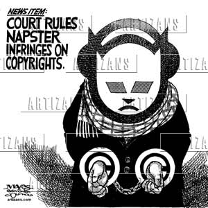 an argument against the shutdown of napster Read the court's full decision on findlaw plaintiffs' action against napster claims contributory and the argument goes, the shut down order fails to.