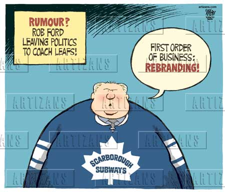 Mayor Rob Ford Rumoured Leaving Politics To Coach The Leafs