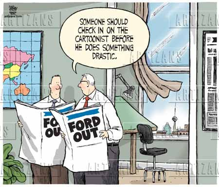 Cartoonist Commits Suicide After Rob Fords Removal From Office